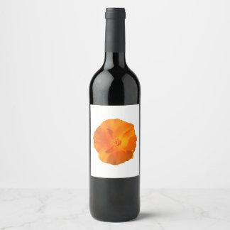 Etiqueta Para Botella De Vino Flor de la amapola de California. californica del