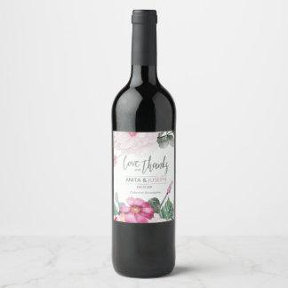 Etiqueta Para Botella De Vino Flores y bayas que casan la frambuesa ID476