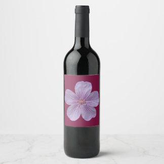 Etiqueta Para Botella De Vino Geranio #1 de Pineywoods