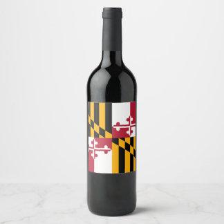 Etiqueta Para Botella De Vino Gráfico dinámico de la bandera del estado de