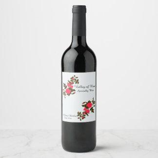 Etiqueta Para Botella De Vino Hogar color de rosa rosado del aerosol en botella