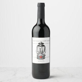 Etiqueta Para Botella De Vino Hora feliz de la noche del campo