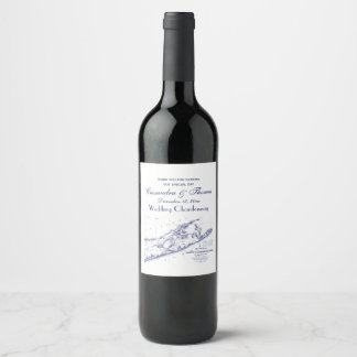 Etiqueta Para Botella De Vino Long Island el mapa de Hamptons