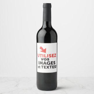 Etiqueta Para Botella De Vino Los vos de Imprimer diseñan en Français del ligne