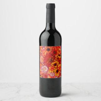 Etiqueta Para Botella De Vino Margaritas candentes ricas del ramo brillante
