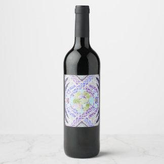 Etiqueta Para Botella De Vino Nacimiento de la vida, nueva edad, meditación,