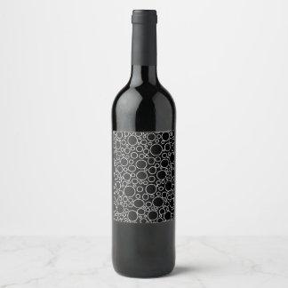 Etiqueta Para Botella De Vino Negro de las burbujas