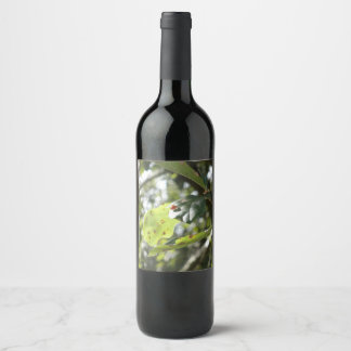 Etiqueta Para Botella De Vino Pequeña señora Bug