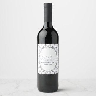 Etiqueta Para Botella De Vino Perla náutica 2V del modelo del ancla