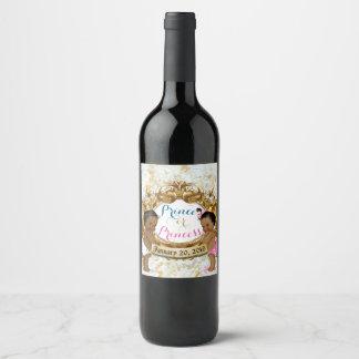 Etiqueta Para Botella De Vino Príncipe/princesa africanos Gender Reveal Wine