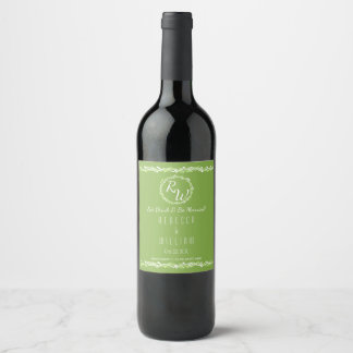 Etiqueta Para Botella De Vino Su rústico de la vid del verdor que se casa el  