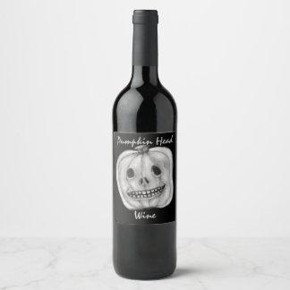 Etiqueta Para Botella De Vino Vino principal el | Halloween de la calabaza