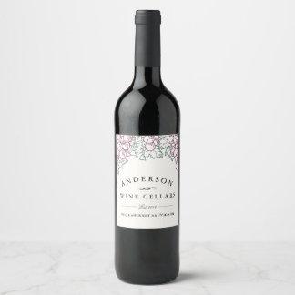 Etiqueta Para Botella De Vino Winemaker casero rústico de las uvas el  