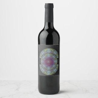 Etiqueta Para Botella De Vino Zen que despierta, reiki, curando, chakra