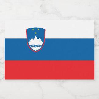 Etiqueta Para Comida Bandera de Eslovenia
