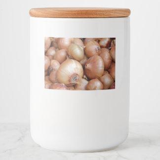 Etiqueta Para Comida Cebollas de Brown