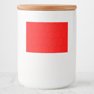 Etiqueta Para Comida Diseño rojo de la burbuja
