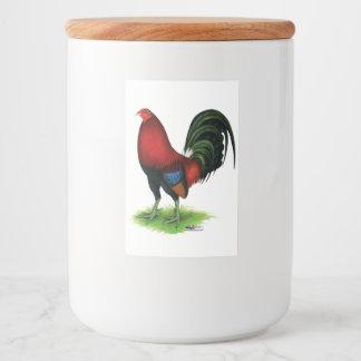 Etiqueta Para Comida Gallo de pelea:  Rojo oscuro