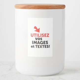 Etiqueta Para Comida Los vos de Imprimer diseñan en Français del ligne