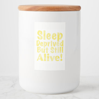 Etiqueta Para Comida Sueño privado pero aún vivo en amarillo