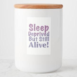 Etiqueta Para Comida Sueño privado pero aún vivo en púrpuras