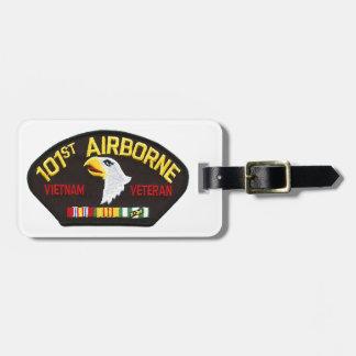 Etiqueta Para Maletas 101o Veterano aerotransportado de Vietnam