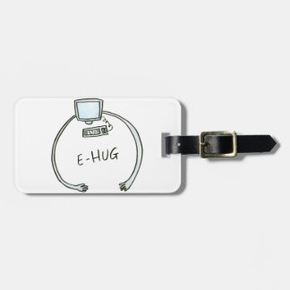 Etiqueta Para Maletas Abrazo del ordenador del e-abrazo de la tipografía