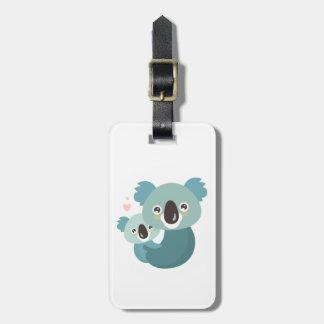 Etiqueta Para Maletas Abrazo dulce de la madre y del bebé de la koala