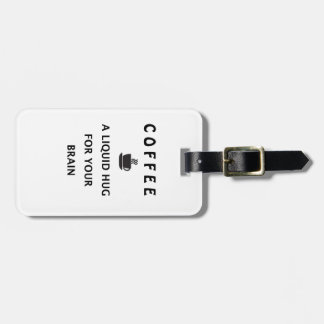 Etiqueta Para Maletas Abrazo líquido del café para su cerebro