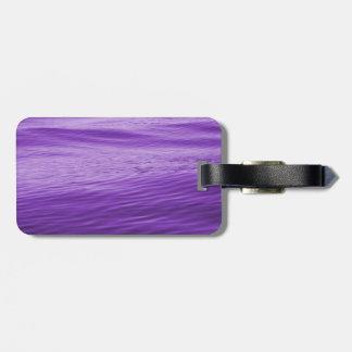 Etiqueta Para Maletas Agua púrpura