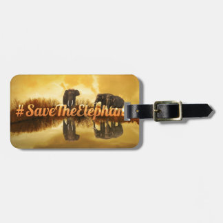 Etiqueta Para Maletas Ahorre el diseño de los elefantes