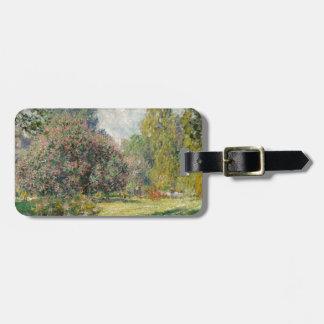 Etiqueta Para Maletas Ajardine el Parc Monceau - a Claude Monet