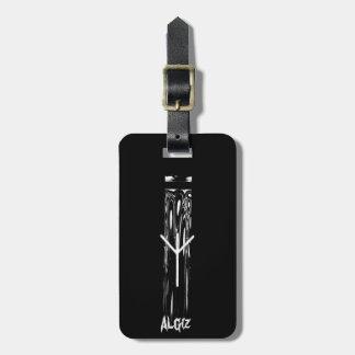 Etiqueta Para Maletas ☼ Algiz - la runa del ☼ de la protección