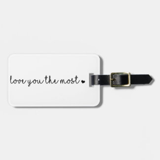 Etiqueta Para Maletas ámele más con moderno simple del corazón