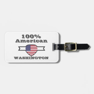 Etiqueta Para Maletas Americano del 100%, Washington