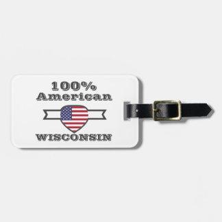 Etiqueta Para Maletas Americano del 100%, Wisconsin
