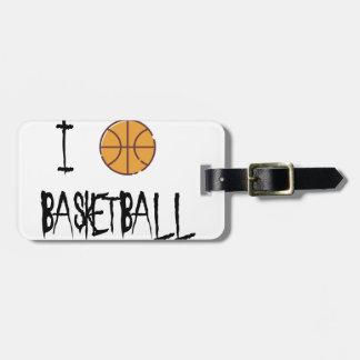 Etiqueta Para Maletas Amo baloncesto