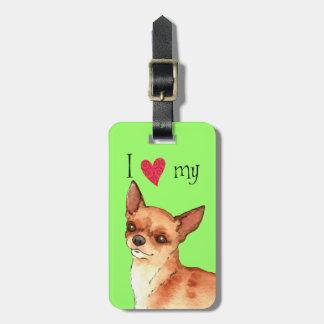 Etiqueta Para Maletas Amo mi chihuahua