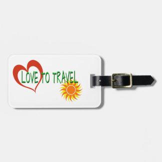 Etiqueta Para Maletas Amor a viajar