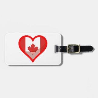 Etiqueta Para Maletas Amor de Canadá