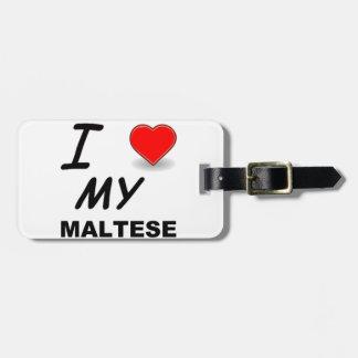 Etiqueta Para Maletas amor maltés