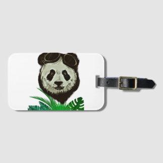 Etiqueta Para Maletas Animal del oso de panda del inconformista