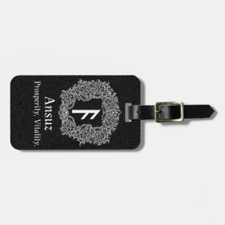Etiqueta Para Maletas Ansuz-runa/prosperidad, vitalidad