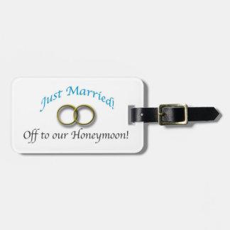 Etiqueta Para Maletas Apenas casado