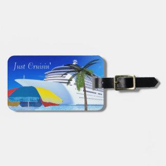 Etiqueta Para Maletas Apenas Cruisin por la playa