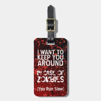Etiqueta Para Maletas Apocalipsis divertida de los zombis el   usted