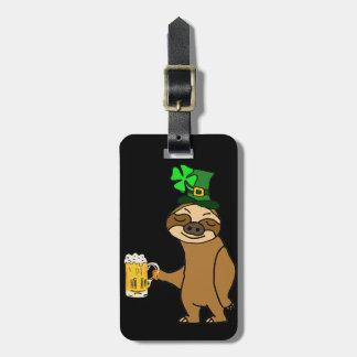 Etiqueta Para Maletas Arte del día de St Patrick de consumición de la