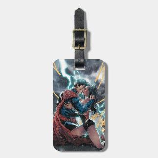 Etiqueta Para Maletas Arte promocional cómico del superhombre/de la