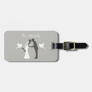 Etiqueta Para Maletas Aventura de la luna de miel de los pares del boda