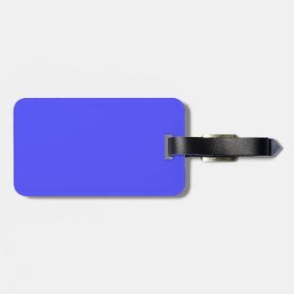 Etiqueta Para Maletas Azul de neón fluorescente brillante